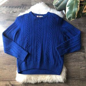 Vintage Collezione Navy Sweater Wool blend SZ M